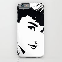 audrey hepburn iPhone & iPod Cases featuring Audrey Hepburn by Saundra Myles
