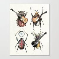 Meet the Beetles (white option) Canvas Print