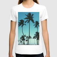 palm trees T-shirts featuring Palm Trees by Whitney Retter