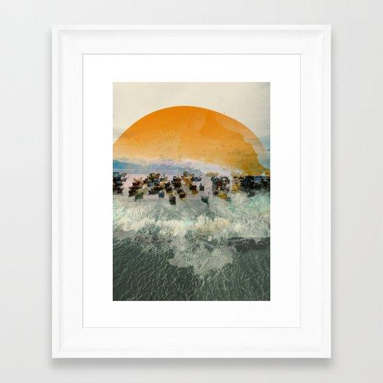 Near Harbor Framed Art Print