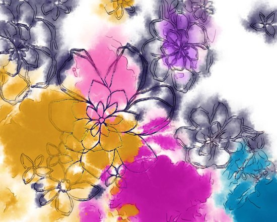Abstract Flowers - Watercolour Paiting Art Print
