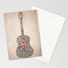 Guitar Notes Stationery Cards