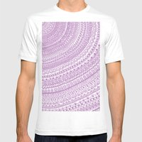 Pink Pulse O2. Mens Fitted Tee White SMALL
