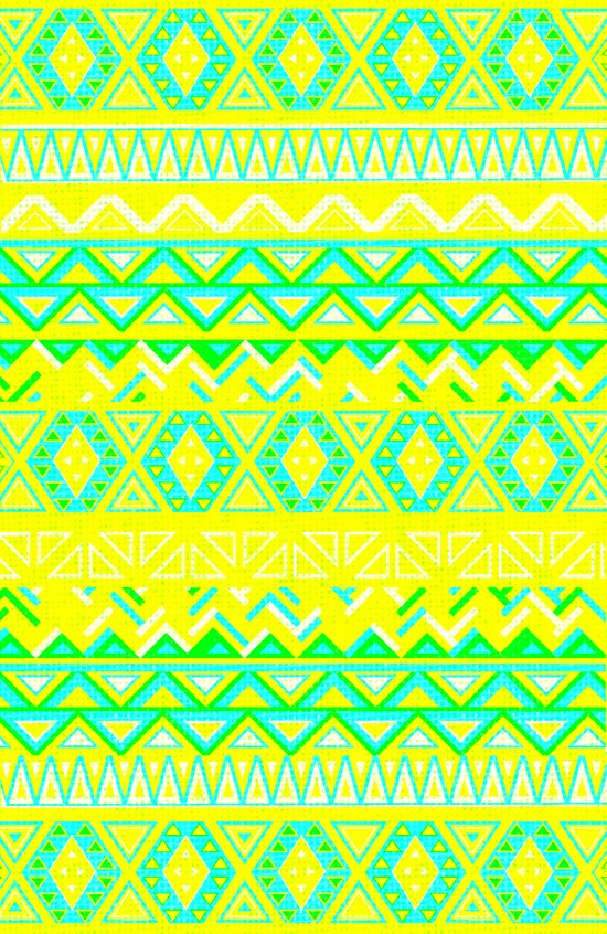 India Style Pattern (Neon) Art Print