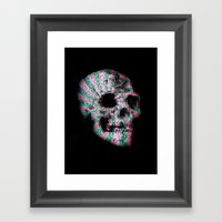 skull. Framed Art Print