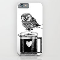 iPhone & iPod Case featuring French Press Owl by Dave Mottram