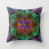 The Flower Of Life (Sacr… Throw Pillow