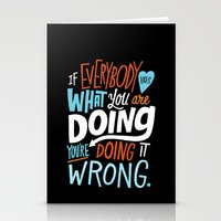 Doing It Wrong Stationery Cards