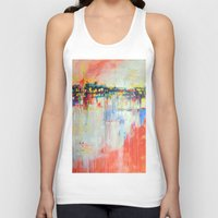 on the water,  expressive landscape, abstract Unisex Tank Top