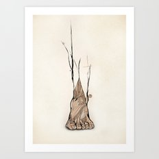 TOMS Foot Illustration  Art Print