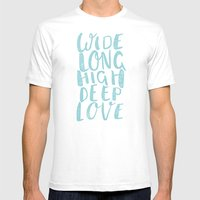 LOVE inifinite - BLUE Mens Fitted Tee White SMALL