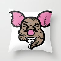 Zombie Piglet Throw Pillow