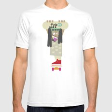 weirdo SMALL Mens Fitted Tee White