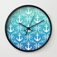 Nautical Knots Ombre Wall Clock