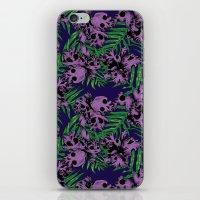 Orchid Skulls iPhone & iPod Skin