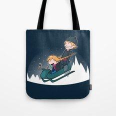 A Snowy Ride Tote Bag