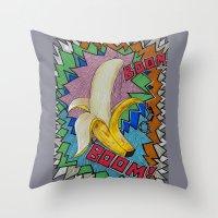 Banana Boom Boom! Throw Pillow