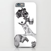 iPhone & iPod Case featuring Anabelle (B&W) by Emily Shaw
