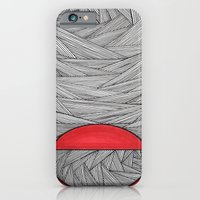 iPhone & iPod Case featuring Red Half by Sarah J Bierman