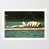Boats On The Dock Art Print