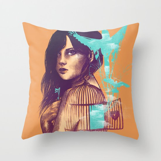 We Must Be Free Throw Pillow