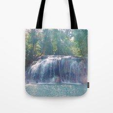Turquoise Waterfall Tote Bag
