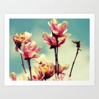 Blooming Spring Flowers Art Print