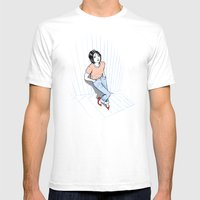 Stairs Mens Fitted Tee White SMALL