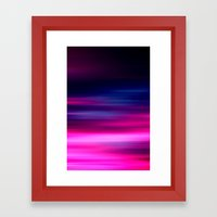 purple sunset II Framed Art Print
