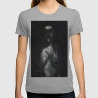 HOT VAMPIRE WITH IMPLANTS Womens Fitted Tee Athletic Grey SMALL
