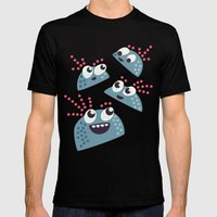 Happy Candy Friends Mens Fitted Tee Black SMALL