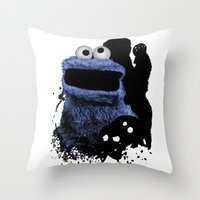 Monster Madness: Cookie … Throw Pillow