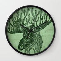 Moose-fir Wall Clock