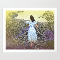 Cowboys,Ladies & Aliens Art Print