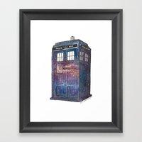 Doctor Who Galaxy Tardis Framed Art Print