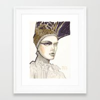 Portrait Illustration In… Framed Art Print