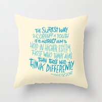 Corrupt A Youth Throw Pillow