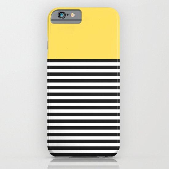 STRIPE COLORBLOCK {LEMON} iPhone & iPod Case