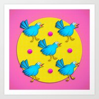 Happy Birds Art Print