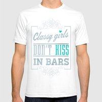 No, They Don't (Dark) Mens Fitted Tee White SMALL