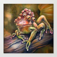 Three-Toed Frog Canvas Print