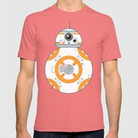 Minimal BB8 Droid Mens Fitted Tee Pomegranate SMALL
