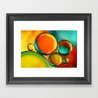 Oil Drop Abstract Framed Art Print