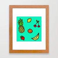 Fun & Fruity Framed Art Print