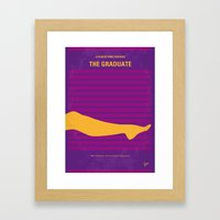 No135 My THE GRADUATE minimal movie poster Framed Art Print