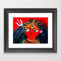Durga, The Warrior Godde… Framed Art Print