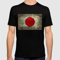 The National Flag Of Jap… Mens Fitted Tee Black SMALL