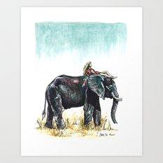 Majestic Safari Art Print