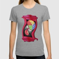 Dali Grandfather Clock Womens Fitted Tee Tri-Grey SMALL