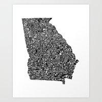 Typographic Georgia Art Print